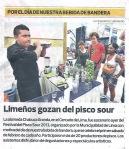 Février 2013 : Jour du Pisco Sour - Mil Colores Por Descubrir dans le journal !   Dia del Pisco Sour - Mil Colores Por Descubrir en el periodico !