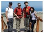Mars 2013 : Mayra, Thomas, Michel et Husein à Pachacamac