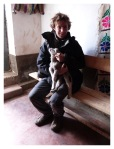 Octobre 2012 : Exploration dans la cordillère Pariacaca -  Thomas et sa peluche  Exploracion en la cordillera Pariacaca -  Thomas con su peluche
