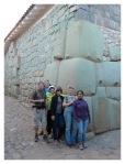 Mai 2013 : Voyage à Cusco.  Michel, Pierrot, Christine, Jocelyne, Catherine et Mayra