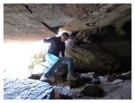 Juin 2013 : Exploration à Cutimbo - Mayra dans les grottes  Exploracion en Cutimbo - Mayra en las cuevas