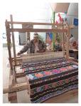 Juillet 2013 : Expo d'artisanat au musée de la nation - Un tisserand de Carania (Réserve Nor Yauyos)  Expo de artesania en el museo de la nacion - un tejedor de Carania (Reserva Nor Yauyos Cochas)