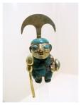 Juillet 2013 : Visite du musée de la nation - figurine en or mochica  Visita del museo de la nacion - ornamento en oro mochica
