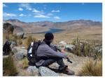 Septembre 2013 : Trek de l'apu Pariacaca avec Annaïg et Gauthier - Gauthier au col de Tiopata  Trek del apu Pariacaca con Annaïg y Gauthier - Gauthier au col de Tiopata
