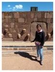"""Septembre 2013 : Tiwanaku avec Annaïg et Gauthier - Mayra et les """"têtes clous""""  Mayra y las cabezas clavos"""