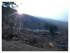 Lever du soleil à Pampas