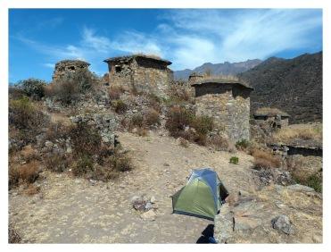 Le camp est installé en plein milieu de Rupac