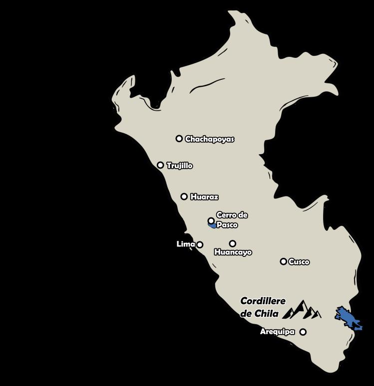 carte localisation cordillère de Chila